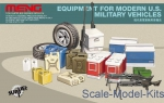 MENG-SPS014 Accessories for modern art USA (boxes, cans, tires, weapons)