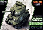 MENG-WWT002 U.S. medium tank M4A1 Sherman, Snap fit