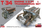 MA35205 T-34 Engine V-2-34 and transmission set