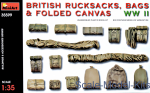 MA35599 British rucksacks, bags & folded canvas WW2