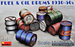 MA35613 Fuel & oil drums 1930-50s