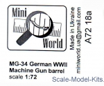 MINI7218a MG-34 gun barrel (2 pieces)
