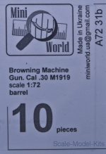 MINI7231b Browning Machine Gun. Cal .30 barrel (10 pieces)
