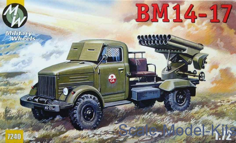 BM 14-17 Soviet rocket system-Military Wheels plastic scale