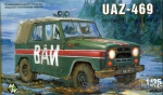 Army Car / Truck: Uaz-469 Militaru police car, Military Wheels, Scale 1:35