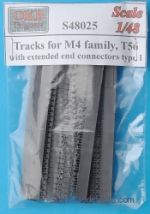 OKB-S48025 Tracks for M4 family, T56 with extended end connectors, type 1
