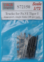 OKB-S72150 Tracks for Pz.VI Tiger I, transport, single links (48 per set)