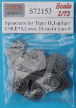 OKB-S72153 Sprockets for Tiger II,Jagtiger,E50,E75, Lowe, 18 tooth, type 2