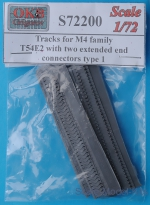 OKB-S72200 Tracks for M4 family, T54E2 with two extended end connectors type 1