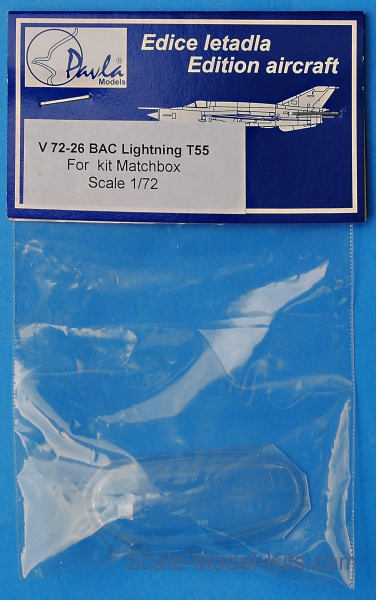 Canopy for BAC Lightning T55, Matchbox kit
