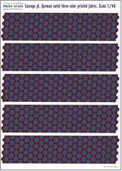 PRS48-LOS8 Decal for Lozenge A. German naval three color printed fabric