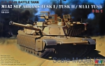 Tank: M1A2 SEP Abrams Tusk I/Tusk II/M1A1 Tusk (3 in 1), Rye Field Model, Scale 1:35