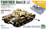 TAKOM2103 WWII German medium Tank  Sd.Kfz.171 Panther  Ausf.D Early/Mid production w/full interior