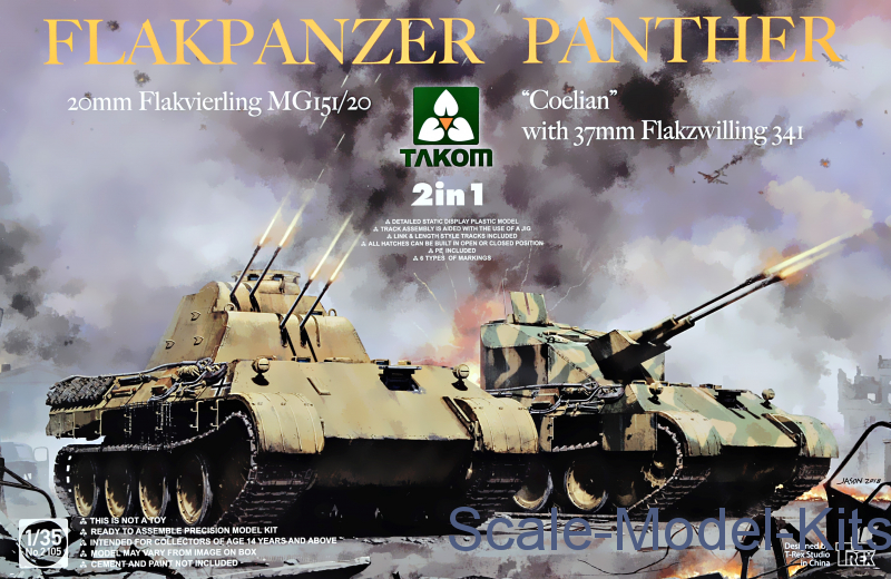 "Flakpanzer Panther ""Coelian"" with 37mm Flakzwilling 341 & 20mm flakvierling mg151/20"
