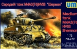UM379 M4A3(76)W HVSS tank Sherman US medium tank