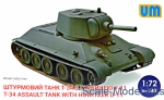 Tank: Soviet tank T-34 with howitzer U-11, UniModels, Scale 1:72