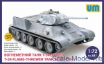 Tank: Fire-throwing tank T-34 with FOG-1, UniModels, Scale 1:72