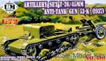 UMT410 Artillery set T-26 / 45mm antitank gun 53-K(1937)