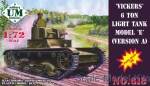 UMT618 Vickers 6 ton light tank model E, version A