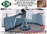 UMT653-004 Oerlikon 20 mm/70 (0,79) AA gun mark 24 (USA)