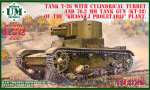 UMT686-01 T-26 tank with cylindrical turret and 76.2mm tunk gun (KT-28)