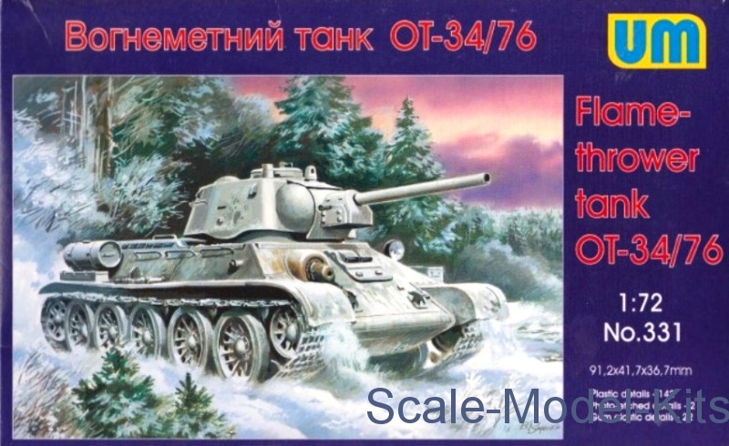 OT-34-76 WWII Soviet flame-thrower tank