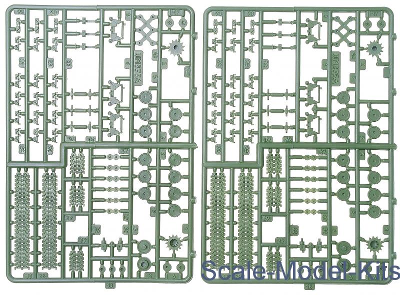 UM 377 Medium Tank M4A2 W HVSS Scale Plastic Model Kit 1//72 76