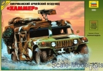 Troop-carrier armor: U.S. Army Humvee all-terrain vehicle, Zvezda, Scale 1:35